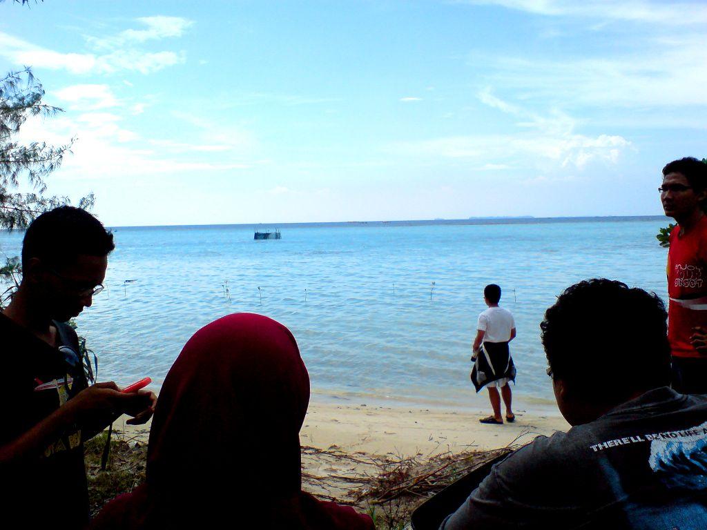 Salah satu spot pantai di Pulau Tidung