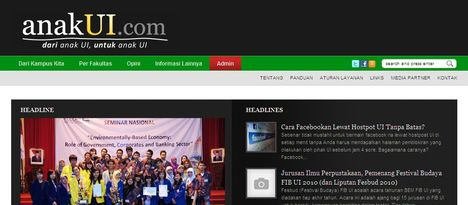 Screenshot anakUI.com