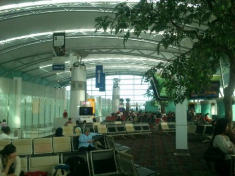 Ruang tunggu Terminal 3 Soekarno Hatta