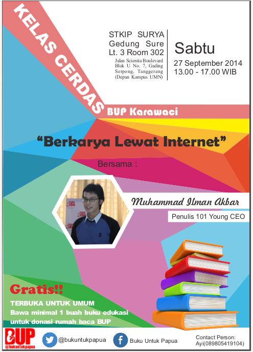 Ilman Akbar - Kelas Cerdas Buku untuk Papua