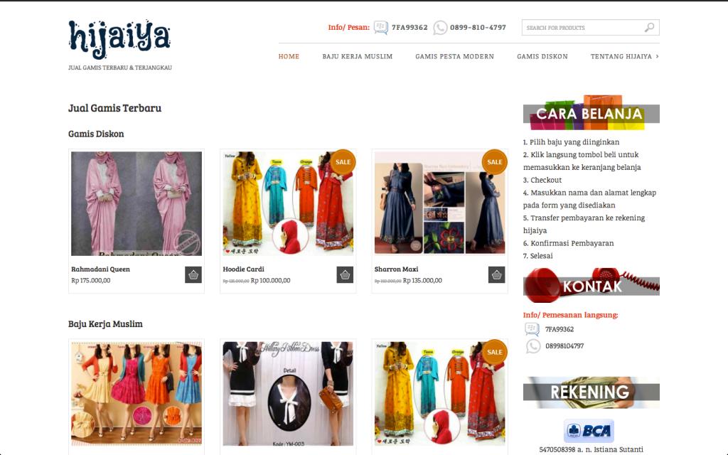 Toko Online Gamis Terbaru Hijaiya