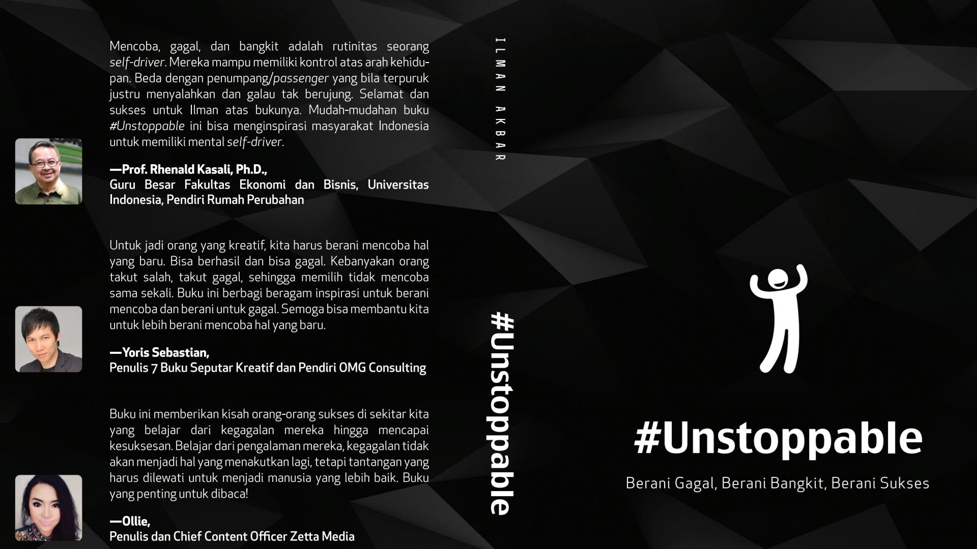 Cover Unstoppable: Berani Gagal, Berani Bangkit, Berani Sukses